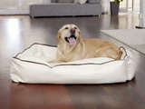 Zvierací pelech Dogbed Leather Beige L